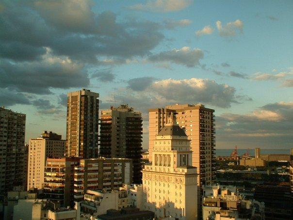 View from Bedroom to North Bouldings & River - Plaza San Martin Apartment with a View - Buenos Aires - rentals