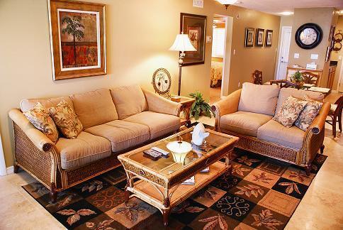 family room - Modern Beach Front Condo/Ocean Views Siesta Beach! - Siesta Key - rentals
