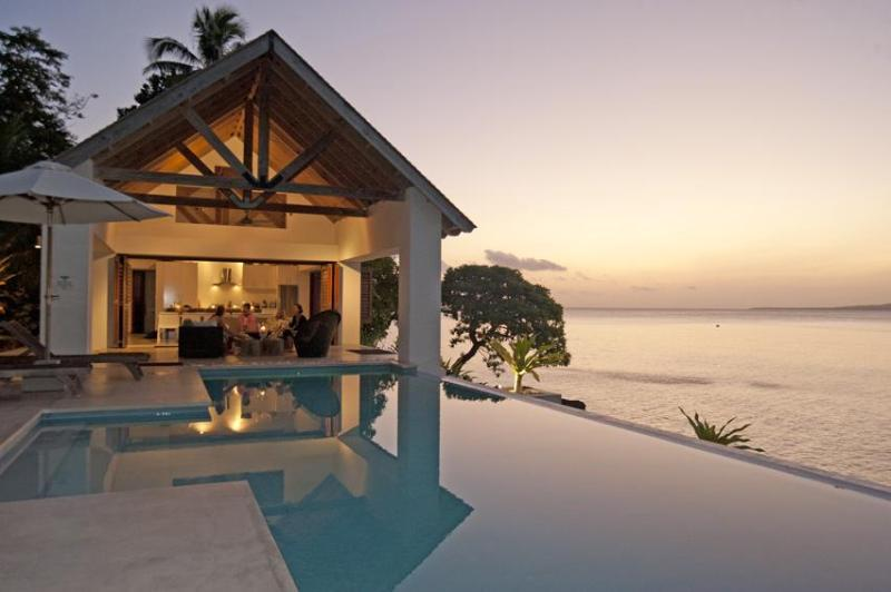 Lowana area at dusk - Villa 25, 3  Luxury waterfront 2 bedroom Villas - Port Vila - rentals