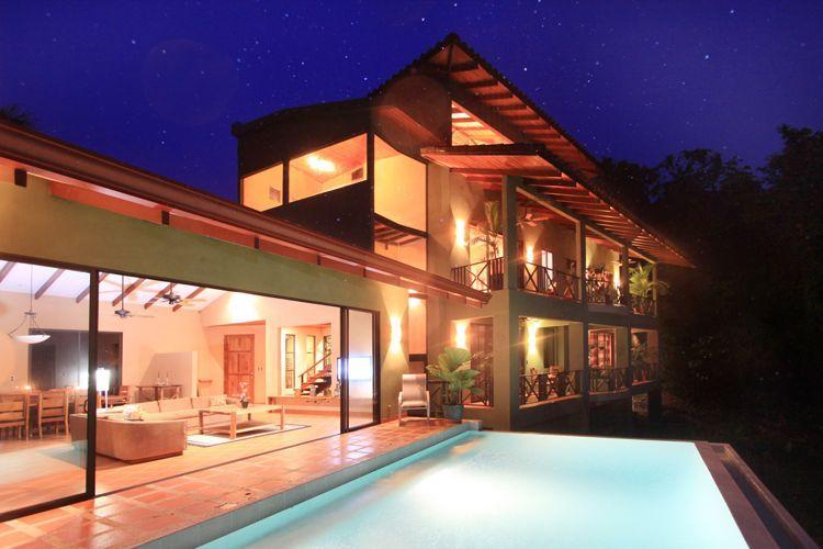 Casa Marlin at night - Casa Marlin - Close ocean views overlooking marina - Manuel Antonio National Park - rentals
