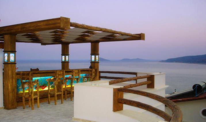 Roof Terrace Bar with view of Kalamar bay & islands - Villa Tera Mare - Kalkan - rentals