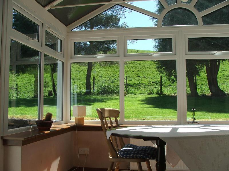 Internal Shot of Conservatory with view to garden - Craigengells Quiet Rural Cottage in Burns Country - Girvan - rentals