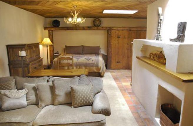 Bedroom and sitting area - Canyon Road Casa - Santa Fe - rentals