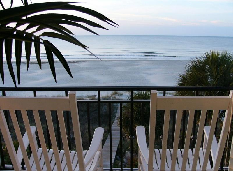 Magnificent oceanview from greatroom balcony - The Sandbar - Hilton Head - rentals