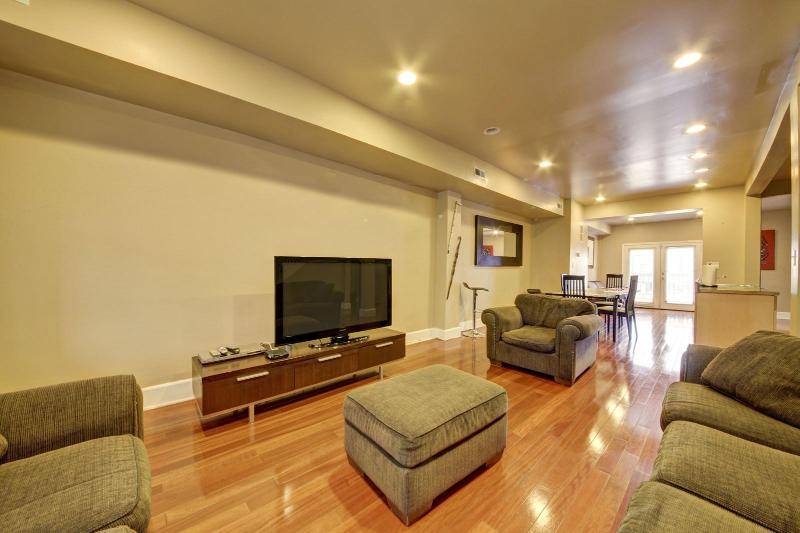 Living Room with 50 Inch HDTV - Modern Charm,Roomy 4/3+ Suites,Parking,You're home - Washington DC - rentals