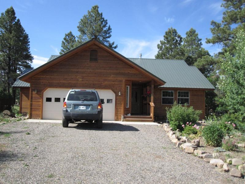 House as it appears from Sundown Circle - Cozy Mountain Retreat for YOU! New LOWER Rates! - Pagosa Springs - rentals