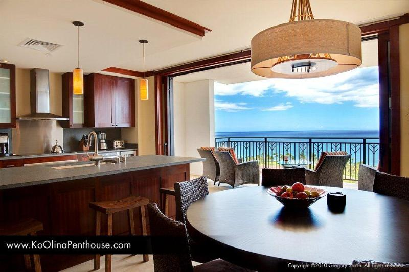 View of our dinning room, kitchen, and lanai - Exclusive 15th Floor Penthouse. Best Ocean View! - Kapolei - rentals