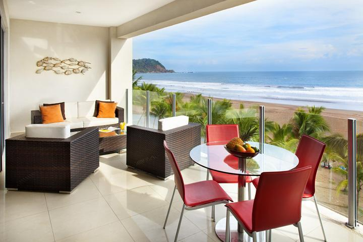 Spacious terrace with ocean view - Ocean front 2 bedroom condo at Diamante del Sol - Jaco - rentals