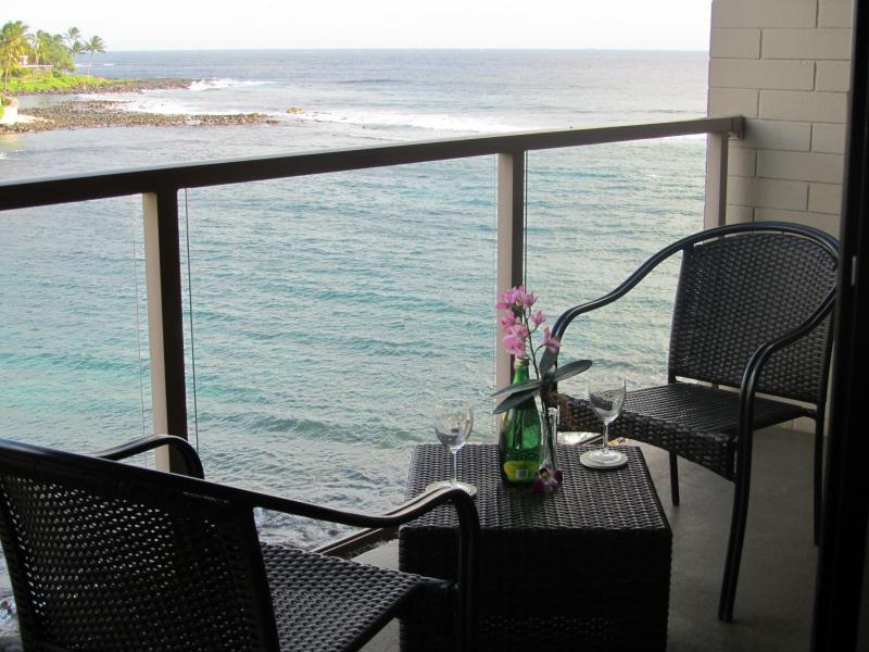 Ocean view from the lanai - Kuhio Shores Ocean View Condo - Summer Special! - Poipu - rentals
