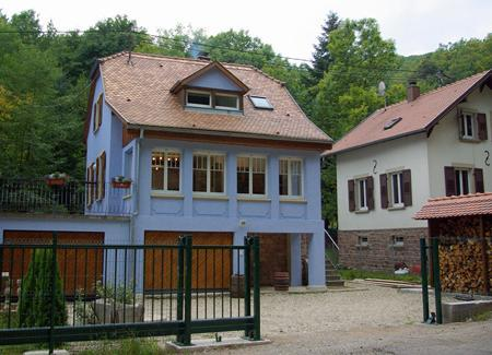 Front of house from across road - Luxury house in Alsace - sauna, hot-tub & log-fire - Barr - rentals
