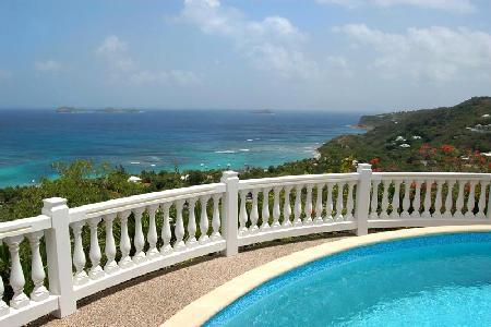 Beautiful and private Villa 21 has a pool, staff and unbelievable ocean views - Image 1 - Petites Salines - rentals