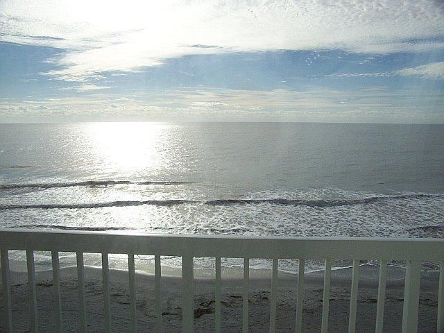 BALCONY VIEW OF OCEAN - FOLLY OCEANFRONT 3 BEDROOM, 3 BATH PENTHOUSE CONDO - Folly Beach - rentals
