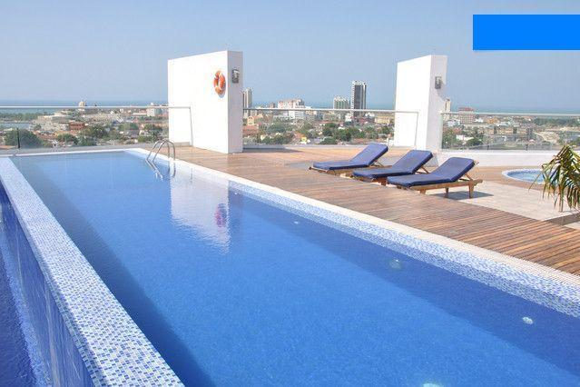 15 metre rooftop pool - Deluxe studio with airport pickup - Cartagena - rentals
