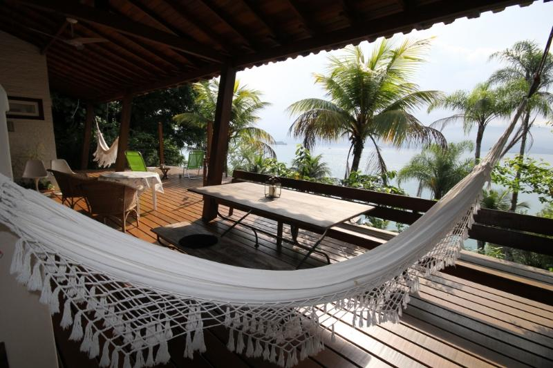 Main Deck and View - Stylish Eco House in a Unique Sea Front Location - Paraty - rentals