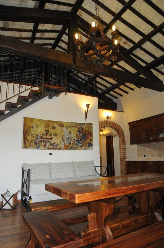 Living room - Beautiful flat in the historic centre of Tivoli - Tivoli - rentals
