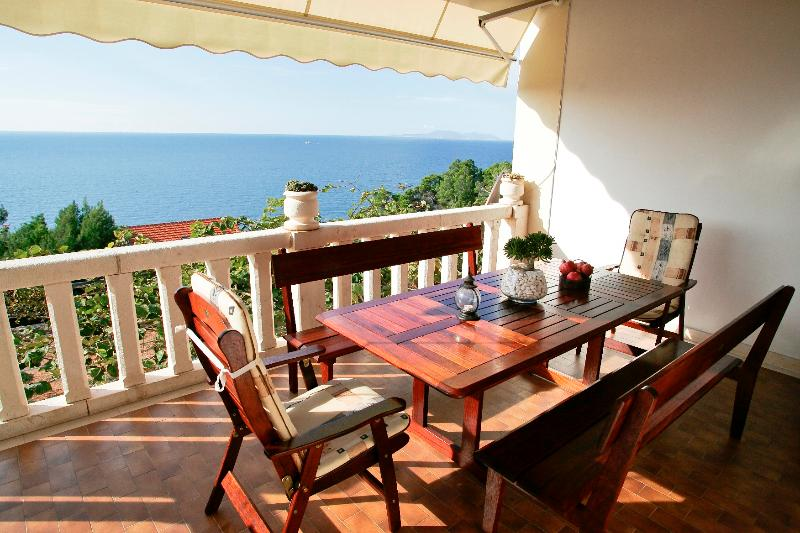The Bougainvillea terrace-south - Villa Perka-tranquil spot in beautiful setting - Sveta Nedelja - rentals
