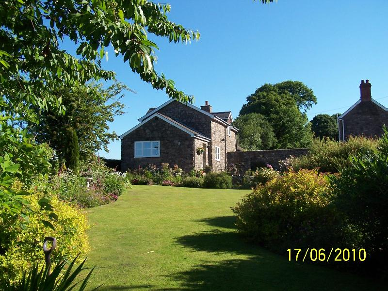 View of Clare's Cottage from bottom of garden - Clares  Holiday Cottage with stunning views - Chepstow - rentals