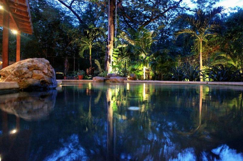 Your Private Pool at Night - Casa Colorado -  Private Luxury Tamarindo Retreat - Tamarindo - rentals