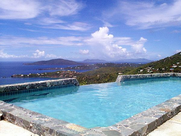 Pool & View at Villa Amour - VILLA AMOUR ,Romantic , Art Lovers Paradise , - North Side - rentals