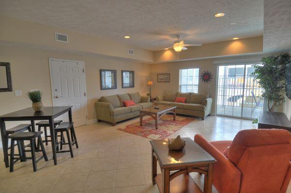 Living Area - 4BR/3BA Luxury Condo - Great Location - DISC RATES - Myrtle Beach - rentals