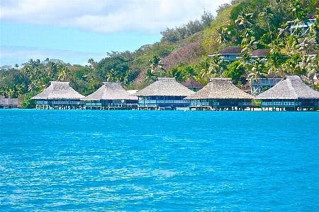 Marlon's Over Water Hideaway is the second from the right! - Marlon's Over Water Hideaway in Bora Bora - Bora Bora - rentals
