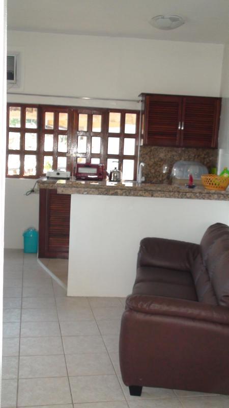 Kitchen fro living area - Beach Front 1 bedroom   Resort Condominium - Puerto Galera - rentals