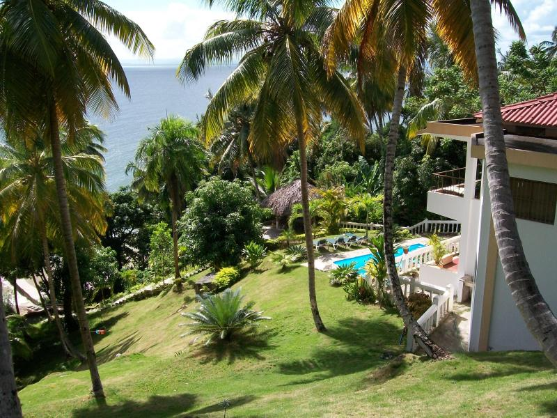 The beach is at the bottom of the steps - Piece O Heaven, Serene beach, Fishboat-Kayaks FREE - Samaná Peninsula - rentals