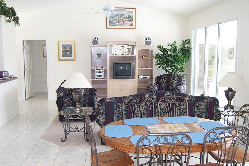 Modern great room - Boundary Blvd Villa, Private South Facing Pool. - Rotonda West - rentals