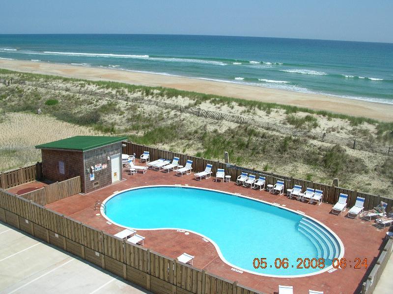 Oceanfront Pool - Hatteras Island Top Floor Oceanfront Condo 2 BR - Hatteras - rentals