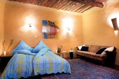 chambre bleue - la vieille maison - halte gourmande chambre bleue - Tornac - rentals