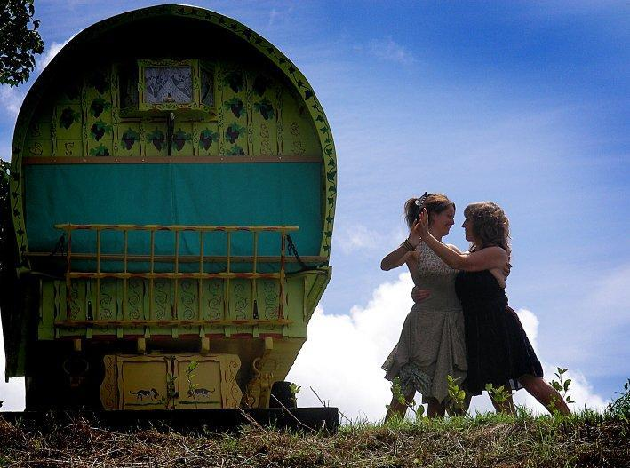 Gypsy WagonRosie - Romantic Gypsy Caravan Vardo  Wagon Cornwall - Cornwall - rentals