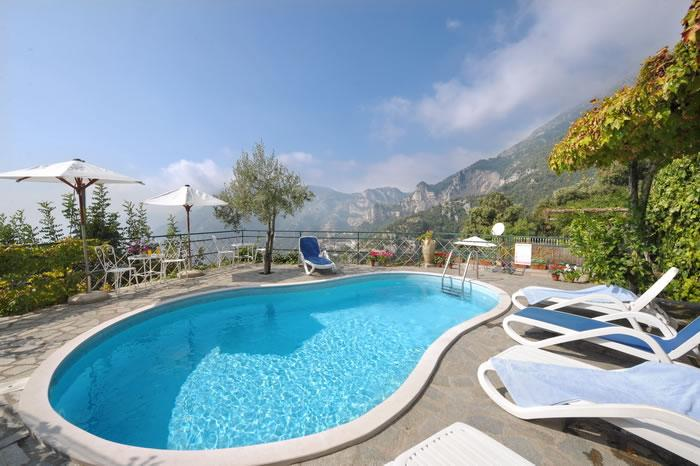 Swimming pool - Sea View Villa with Pool in Positano Montepertuso - Positano - rentals