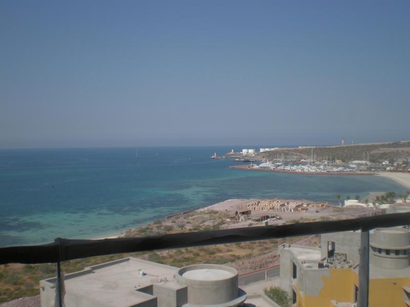 Unit #405, Vista Mar, SW view from deck of all 3 condos - OCEANFRONT CostaBaja 1,2,3bdm 5*Marina Beach Golf - La Paz - rentals