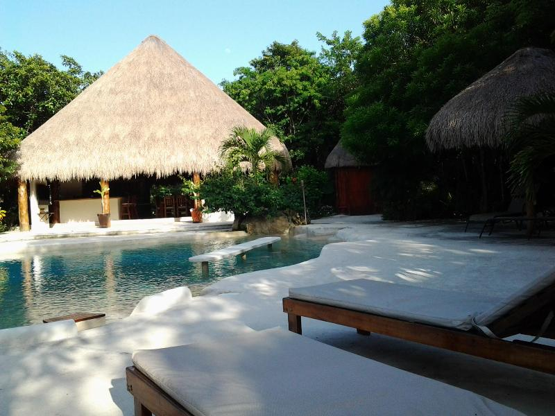 Natural pool view - Casa Jeff at Villa Esperanza - Akumal - rentals