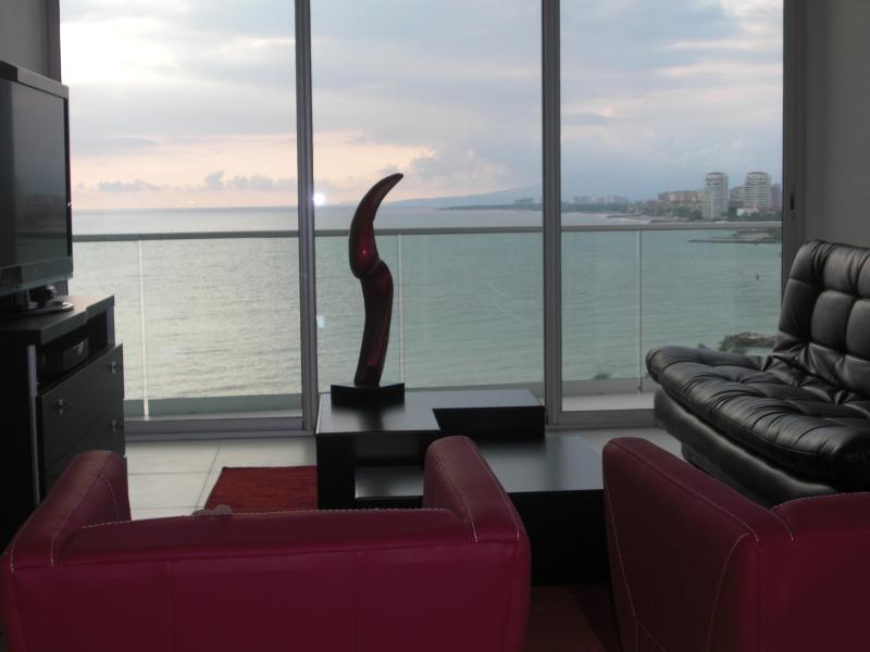 Living Room - ICON Vallarta Brand New 1BR 10th Floor Ocean Views - Puerto Vallarta - rentals