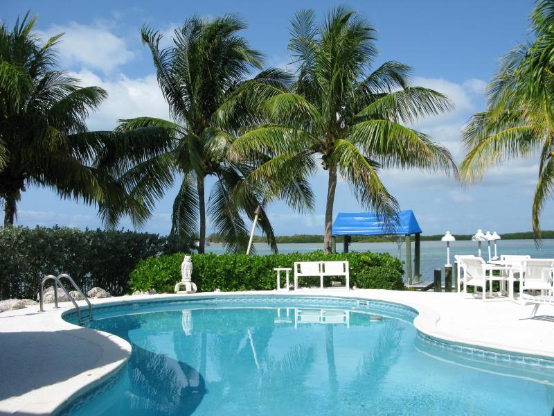 POOL AREA - Open water in Florida Keys with beautiful sunsets - Duck Key - rentals