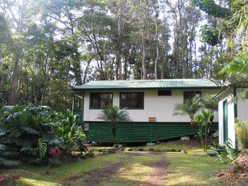House from Street - Hale Ohia Nui - Pahoa - rentals