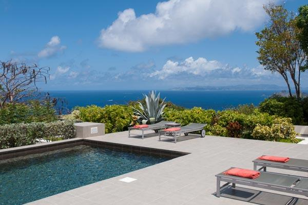 Located high on a hillside with 270º views over the ocean WV VBB - Image 1 - Colombier - rentals