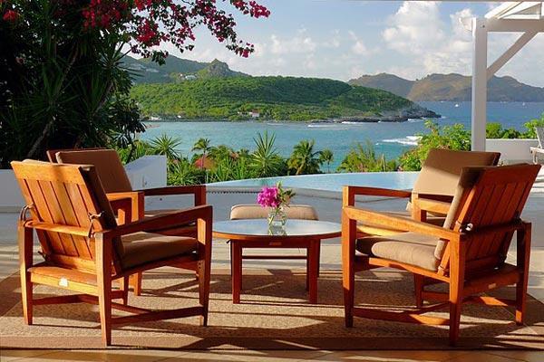 Stylish villa with terrific views of ocean, sunsets & hills WV SAS - Image 1 - Saint Jean - rentals