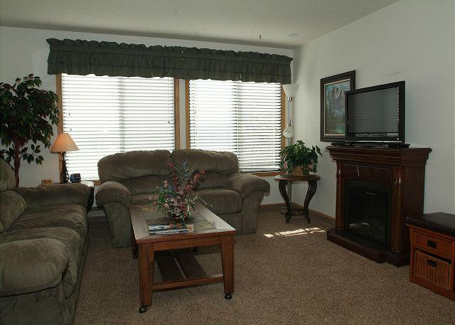 Living Area w/Sofa Sleeper, Electric Fire Place & Flat Screen TV - Cozy Studio at SnowBlaze Condominiums. - Winter Park - rentals