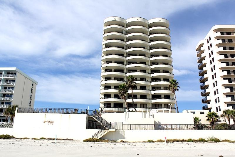 Sand Dollar Condominium seen from the beach. - Feel Daytona - Beach Dream Condo - Daytona Beach - rentals