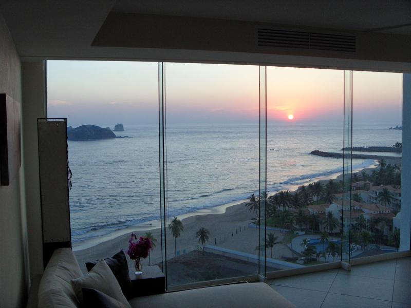 Kitchen View to the Living Room... - BVG Marina. Unbelievable Luxury & Views! (No Fees) - Ixtapa - rentals