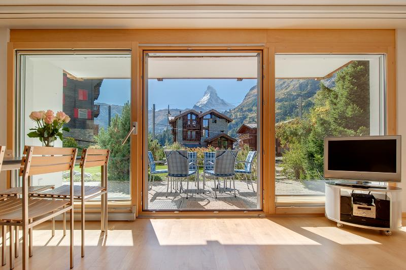 View from kitchen/living room - Alpine - Zermatt - rentals