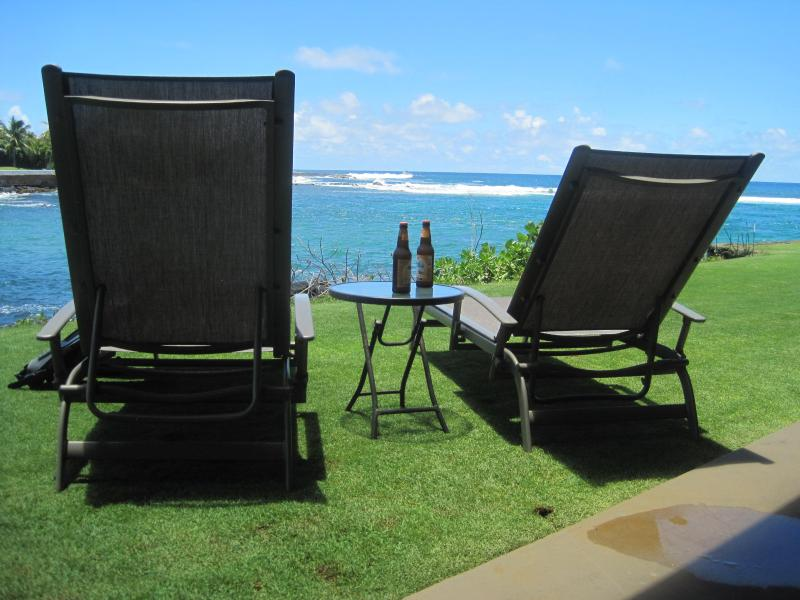 Relax and watch the turtles - Kuhio Shores 106, 1st floor bay-side, on the beach - Poipu - rentals