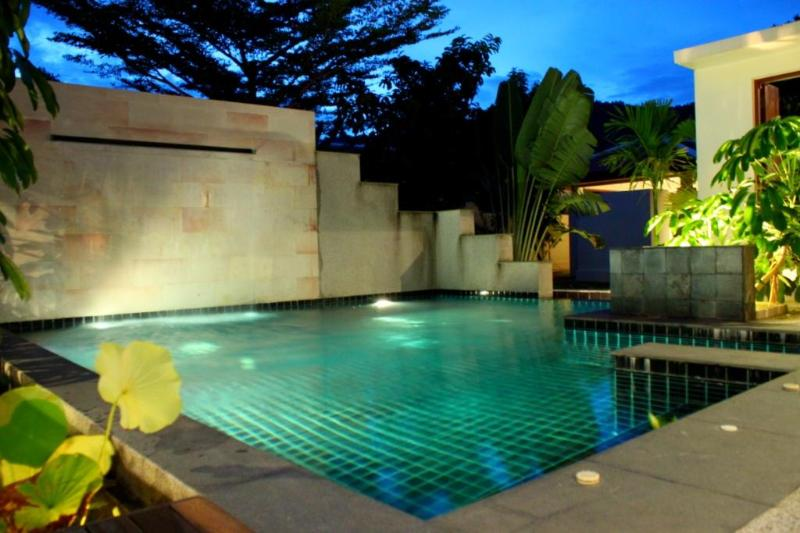 Pool Beautifully Lit at Night - Villa Siam - Luxury  3 Bedroom Private Pool Villa - Nai Harn - rentals