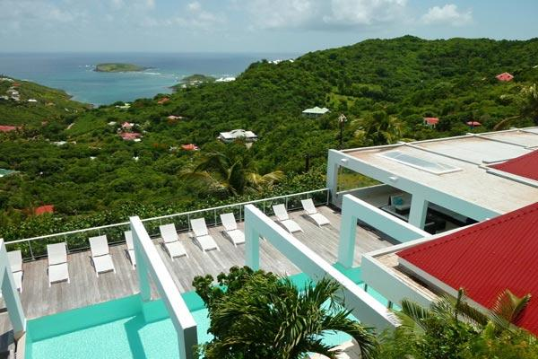 Hillside villa with a sprawling view over countryside & ocean WV JNM - Image 1 - Camaruche - rentals
