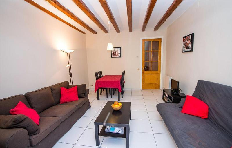 Livingroom, view from balcony - Modern Apartment in Barcelona Historic City Centre - Barcelona - rentals