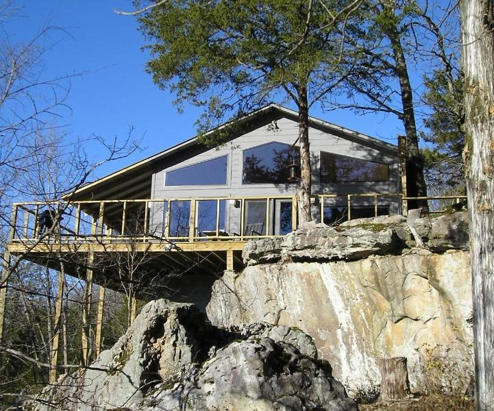 Each cabin or suite has a glass wall facing the lake. - Beaver Lakefront Cabin - Upscale, Secluded Luxury - Eureka Springs - rentals