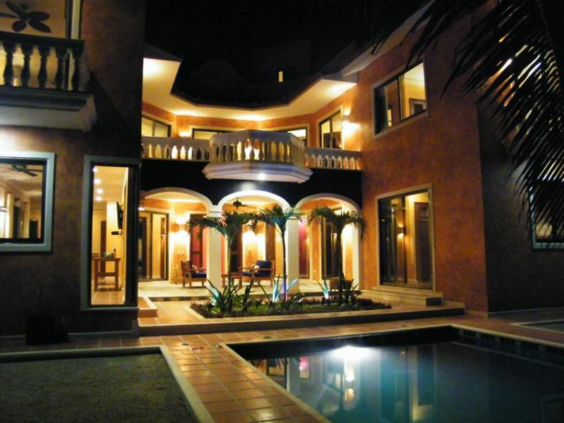 Another night view of house exterior - Casa Perla Winner Top Vacation rental 2011,12 & 13 - Tulum - rentals