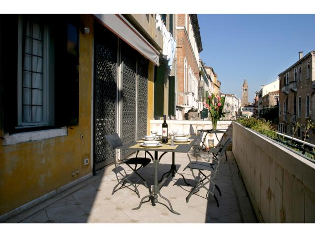The furnished terrace - Ca' Barnaba Terrace - Venice - rentals